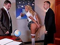 Schoolgirl gets punished