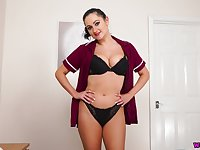 Naturally sexy and nice stuck nurse Bonnie exposes her sexy boobies