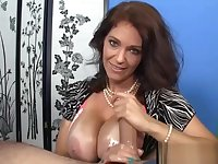 Busty mature titfucking and wanking in POV