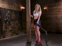 Endless orgasm for tied up seductress with juicy butt Kate Kennedy