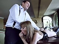 Horny dude fucks deep throat and stretched anal hole of Portuguese hooker Charlize Bella