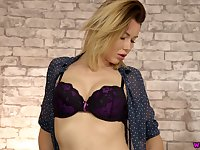 Nicely packed beauty in black tights Hannah Z wanna show off her titties