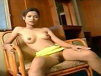 Taiwan yellow dress upskirt