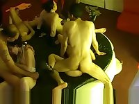 Hidden cam in a French swingers club! Part43