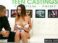 Naughty slutty model Ashley Adams deserves some really brutal doggy banging