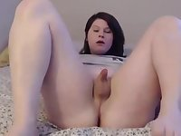 Cute Chubby Gurl Toys Her Ass with Vibrator