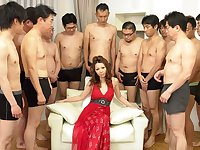 Nagisa Kazami in Nagisa Kazami is fucked by so many cocks in a gangbang - AvidolZ