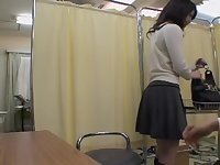 Very nice Asian babe gets a dirty Gyno exam with a toy