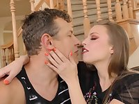 Smoking hot red head Britney Amber is fucked by hot blooded lover