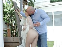 Horny bald headed guy J Mac fucks ample breasted bootyful milf Lexi Luna