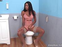 Stunning Nadia Jay loves having fun with dicks through glory holes
