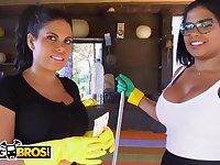 Brazilian maids, Sheila Ortega and Kesha Ortega frequently get drilled instead of doing their job