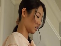 Small tits wife Iroha Natsume tied up and gangbanged on the bed