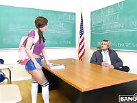 Cock hungry brunette Dillion Harper gets fucked by a naughty tutor