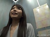 Small tits Japanese girl Aya Eikura sucks a dick in POV video