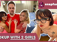 Mya & Candy: two naughty babes share a dick! Snap-fuck.com