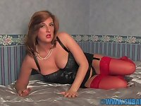 Video of kinky wife Jenny Badeau fingering her orgasmic pussy