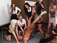 Amateur man gets his dick pleasured by Kirsty Randall & Sasha Rose