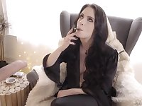Having finished with a blowjob dark haired girl Anna De Ville deserves hard fuck