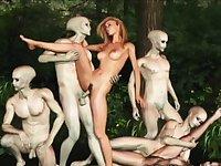 Disgusting Aliens Fucking 3D Girls!