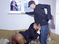Real estate agent hunts for the stud's fat manmeat