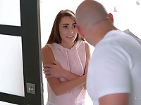 Chick with hard nipples Mackenzie Mace is treated with cuni and hot mish