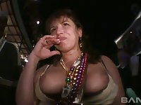 This slut gotta have the sexiest tits and she loves showing them off in public